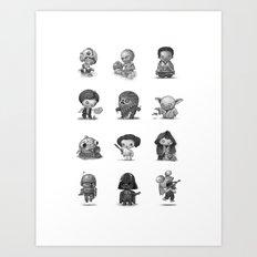 Star Kids Wars Art Print