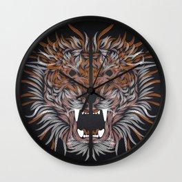 tiger line Wall Clock
