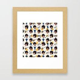 TheBeatles Pattern Art Framed Art Print