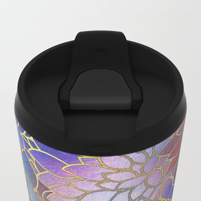 Floral Abstract 5 Metal Travel Mug