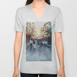PARIS Street - Painting Unisex V-Neck