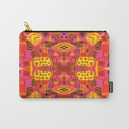 Boho Patchwork in Warm Tones Carry-All Pouch