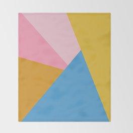 Cute Colorful Diagonal Color Blocking Throw Blanket