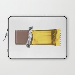 Chocolate candy bar in gold wrapper Laptop Sleeve