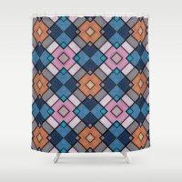 luke hemmings Shower Curtains featuring Pattern LUKE by MehrFarbeimLeben