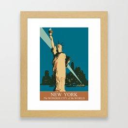 New York The Wonder City of the World Framed Art Print