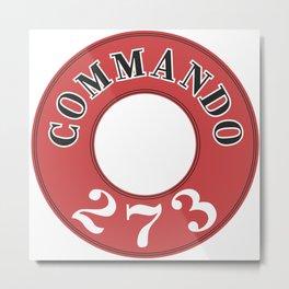 273 - Commando Engine Label Metal Print