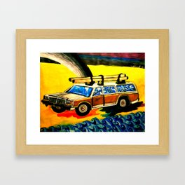 Gold Hunting Framed Art Print