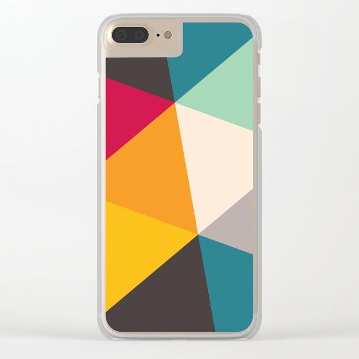 Geometric Triangles Clear iPhone Case
