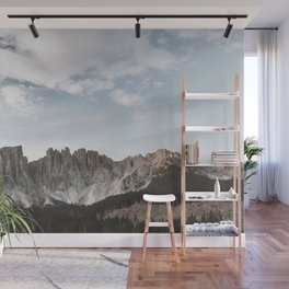 LANDSCAPE PHOTOGRAPHY OF GRAY AND BROWN MOUNTAIN Wall Mural