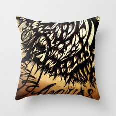 Coca Leaves Throw Pillow