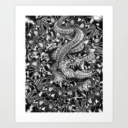 Croc Hunter Art Print