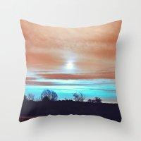 night sky Throw Pillows featuring Night sky by J's Corner