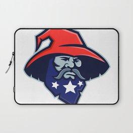 Warlock Stars on Beard Mascot Laptop Sleeve