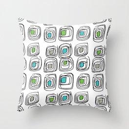 Retro Echosquares Throw Pillow