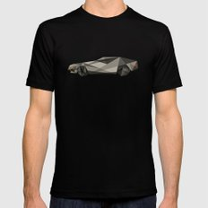 D-LOREAN MEDIUM Mens Fitted Tee Black