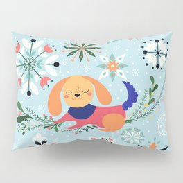 Happy Dog Year Pillow Sham