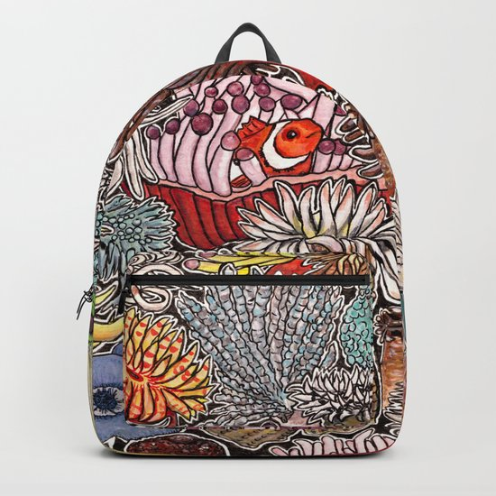 Clown fish and Sea anemones Backpack