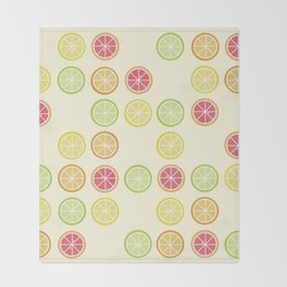 Fun Yellow Citrus Slice Pattern Throw Blanket