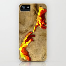 Michelangelo hands. Pixelation iPhone Case