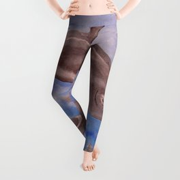 A Pod of Playful Jumping Dolphins Leggings