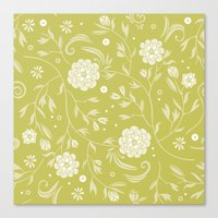 Sunny floral pattern Canvas Print