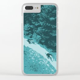 Two bikers Clear iPhone Case