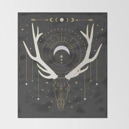 Moon Deer Throw Blanket