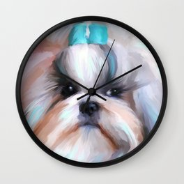 Little Boy Shih Tzu Wall Clock