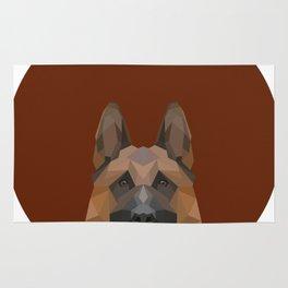 Low Poly German Shepherd Rug
