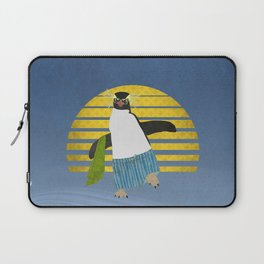 Northern Rockhopper Penguin on Spring Break Laptop Sleeve