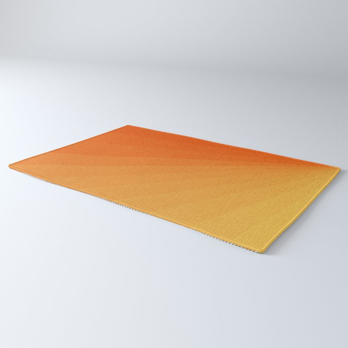 Shades of Sun - Line Gradient Pattern between Light Orange and Pale Orange Rug