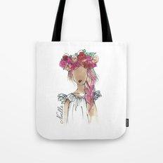 Flower Crowned Tote Bag