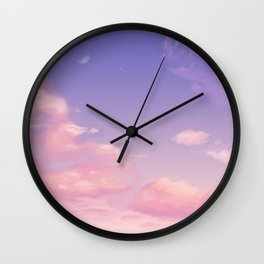 Sky Purple Aesthetic Lofi Wall Clock