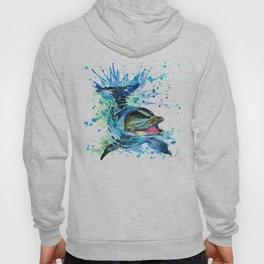 Watercolor Dolphin Hoody