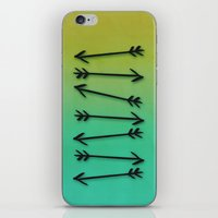 arrows iPhone & iPod Skins featuring Arrows by Leah Flores