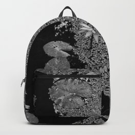 Black and White Lily Pond Backpack