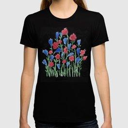 Watercolor miniature flowers floral pattern T-shirt