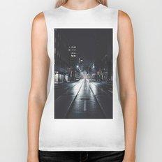 Night street reflect Biker Tank