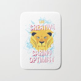 Leo Zodiac Horoscope Lion Spirit Animal Bath Mat
