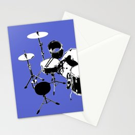 Drumkit Silhouette (backview) Stationery Cards