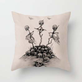 Skulls & Crosses - Pirate Conquest Throw Pillow