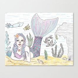 Mermaid! Canvas Print