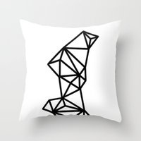 geo Throw Pillows featuring Geo by Miranda Williams