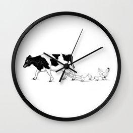 Cow vs. Chicken Wall Clock