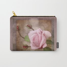 Vintage Rose in Pink Carry-All Pouch