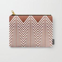 Art Deco Geometric Arrowhead Dusty Peach Design Carry-All Pouch