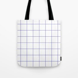 Graph Paper (Navy Blue & White Pattern) Tote Bag