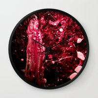 inception Wall Clocks featuring Inception by Lord Egon Will