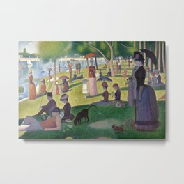 Georges Seurat - A Sunday Afternoon on the Island of La Grande Jatte Metal Print